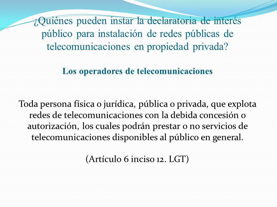 Los operadores de telecomunicaciones