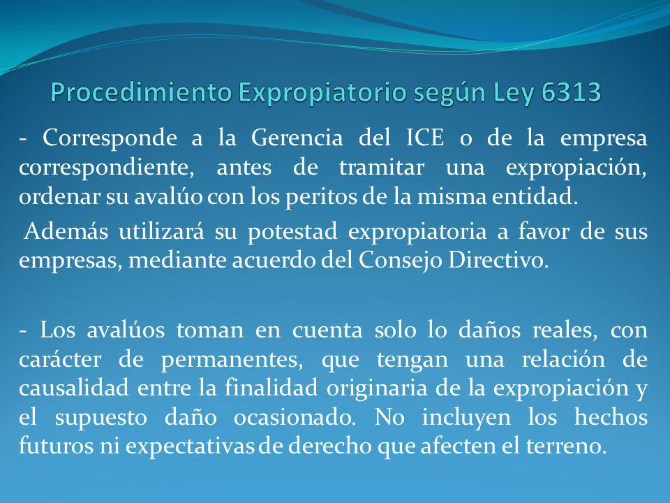 Procedimiento Expropiatorio según Ley 6313