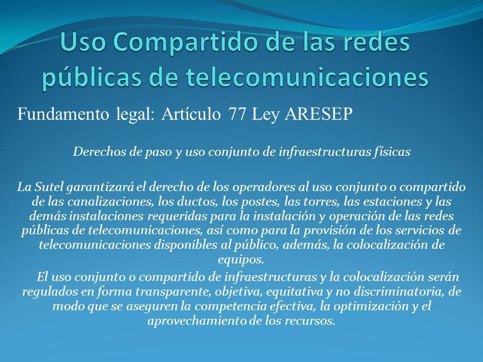 Uso Compartido de las redes públicas de telecomunicaciones