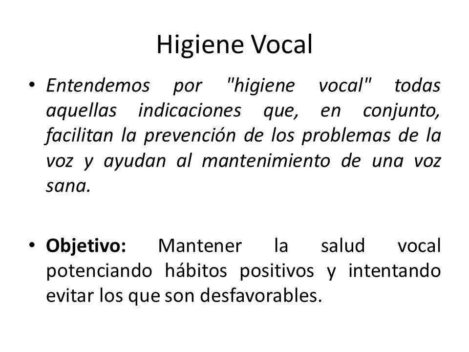 Higiene Vocal