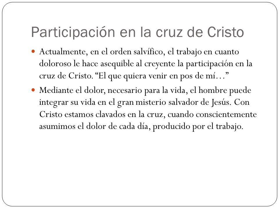 Participación en la cruz de Cristo