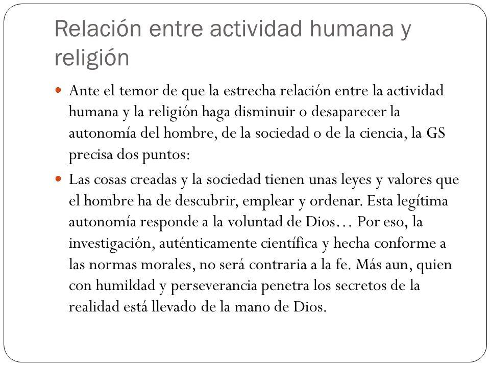 Relación entre actividad humana y religión