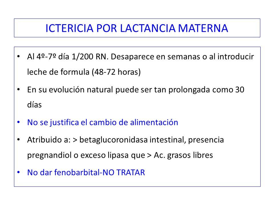 ICTERICIA POR LACTANCIA MATERNA