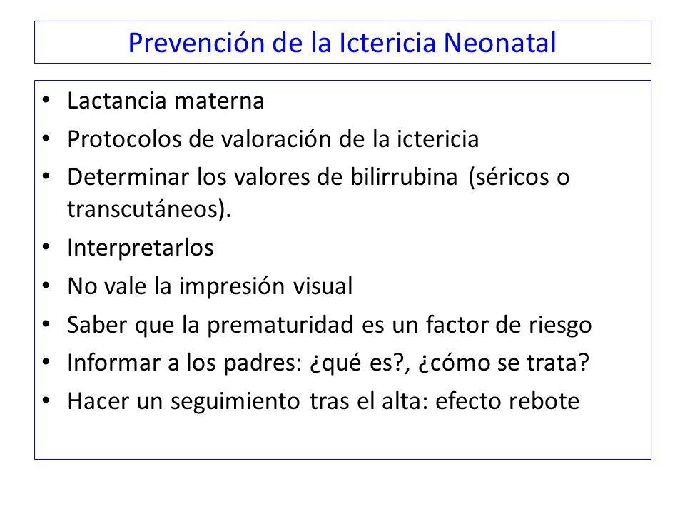 Prevención de la Ictericia Neonatal