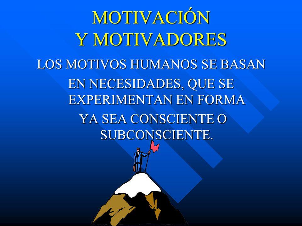 MOTIVACIÓN Y MOTIVADORES