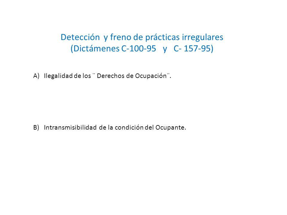 Detección y freno de prácticas irregulares
