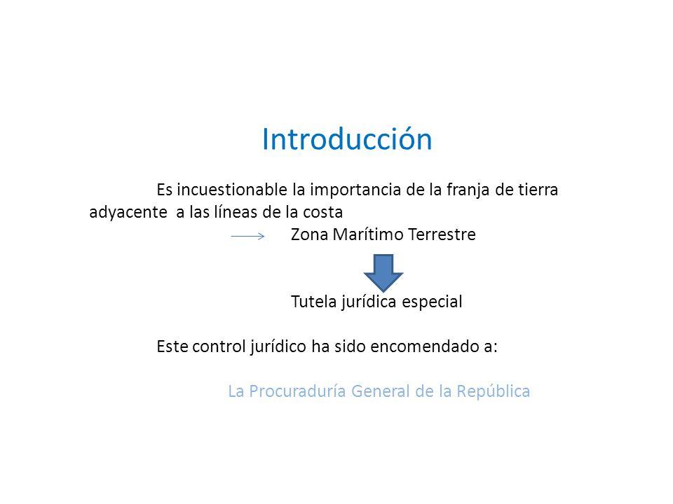 Introducción Zona Marítimo Terrestre Tutela jurídica especial