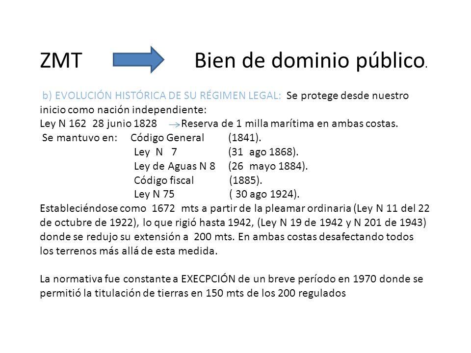 ZMT Bien de dominio público.