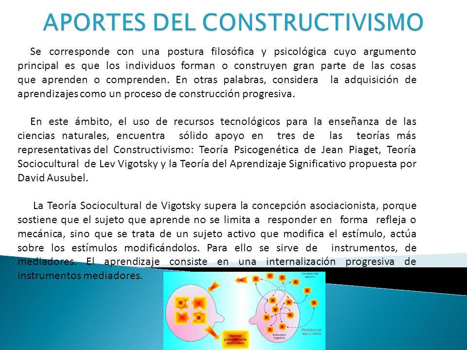 APORTES DEL CONSTRUCTIVISMO