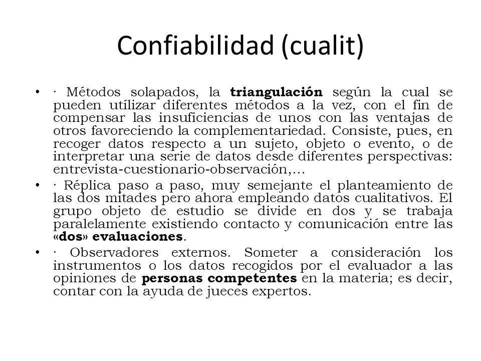 Confiabilidad (cualit)