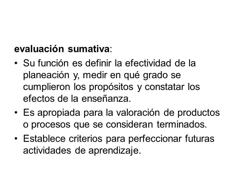 evaluación sumativa: