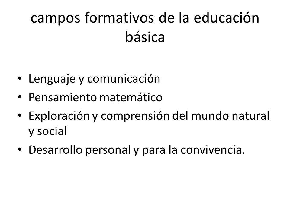 campos formativos de la educación básica