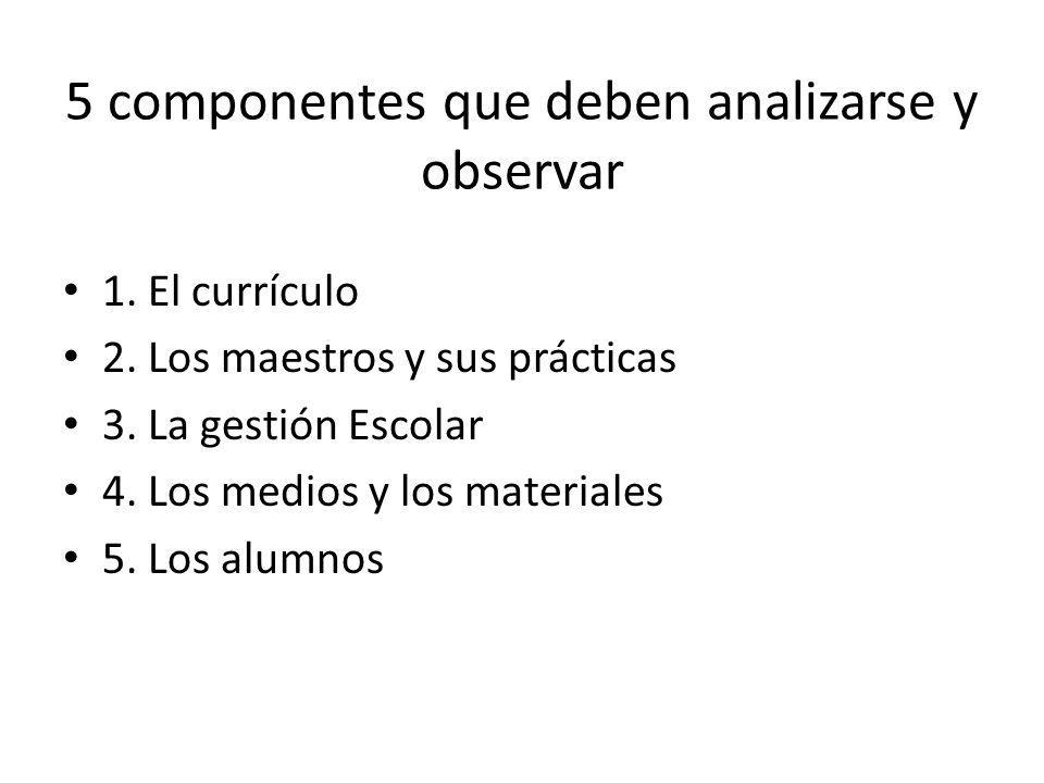 5 componentes que deben analizarse y observar