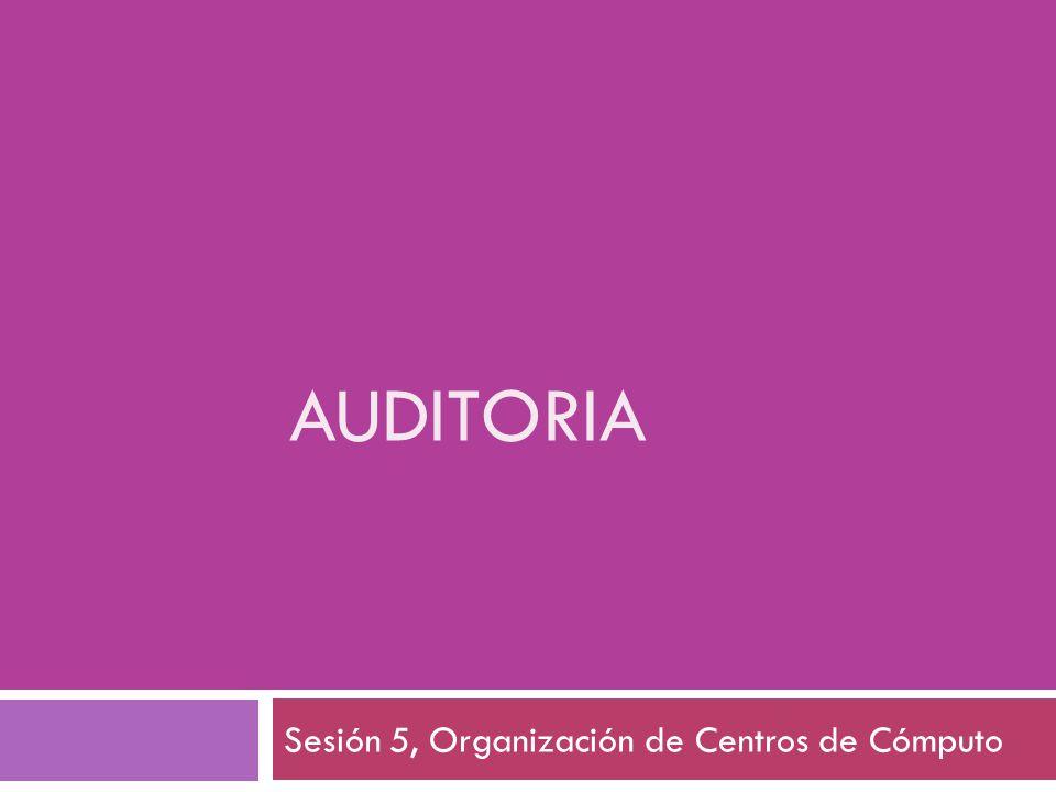 Sesión 5, Organización de Centros de Cómputo