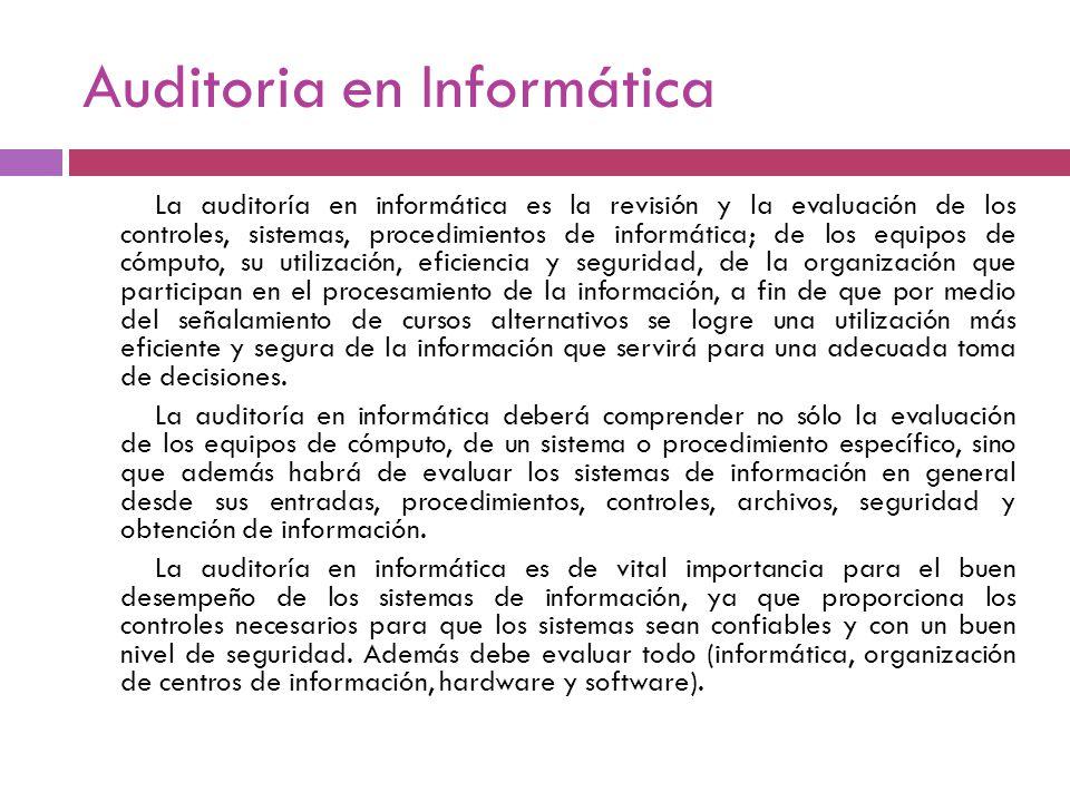 Auditoria en Informática