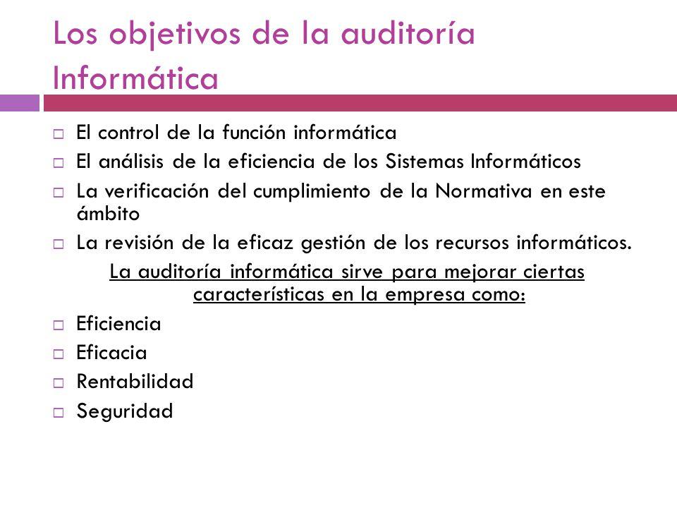 Los objetivos de la auditoría Informática