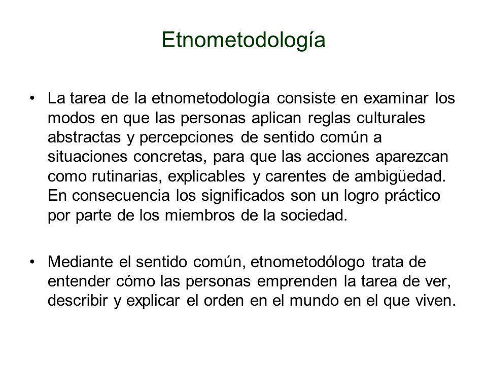 Etnometodología