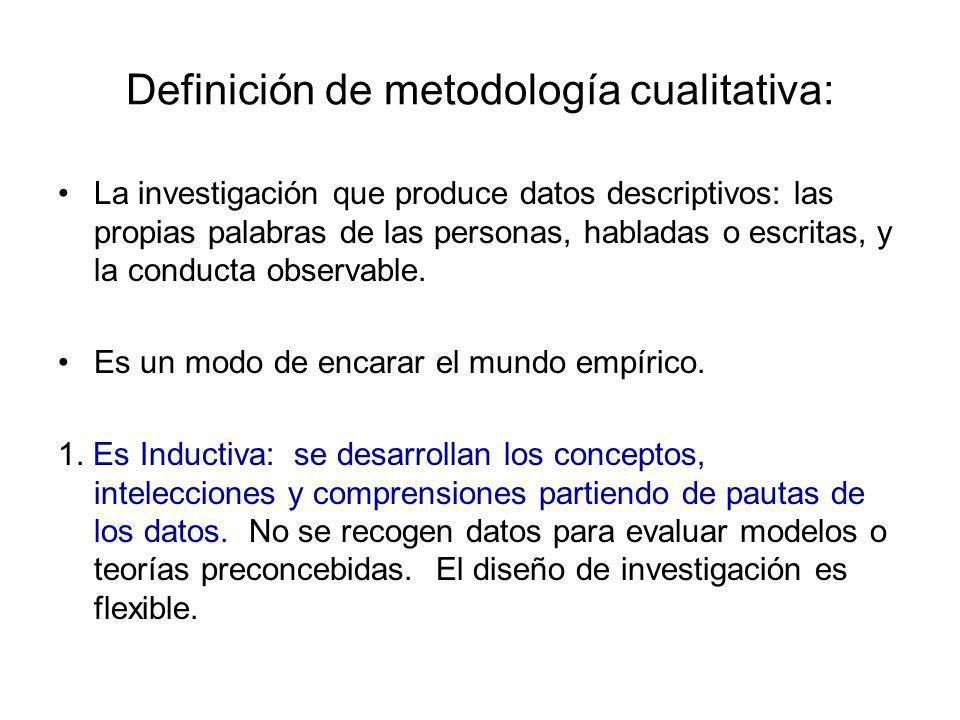 Definición de metodología cualitativa: