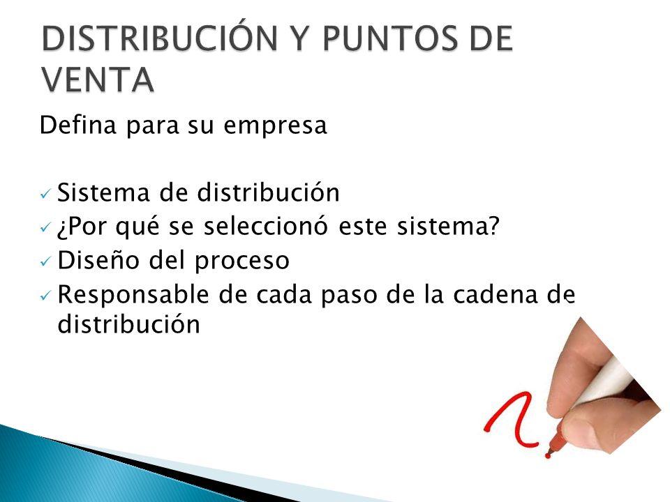 DISTRIBUCIÓN Y PUNTOS DE VENTA