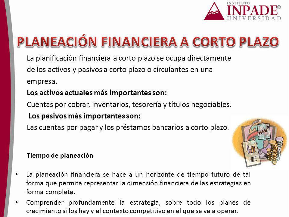 PLANEACIÓN FINANCIERA A CORTO PLAZO