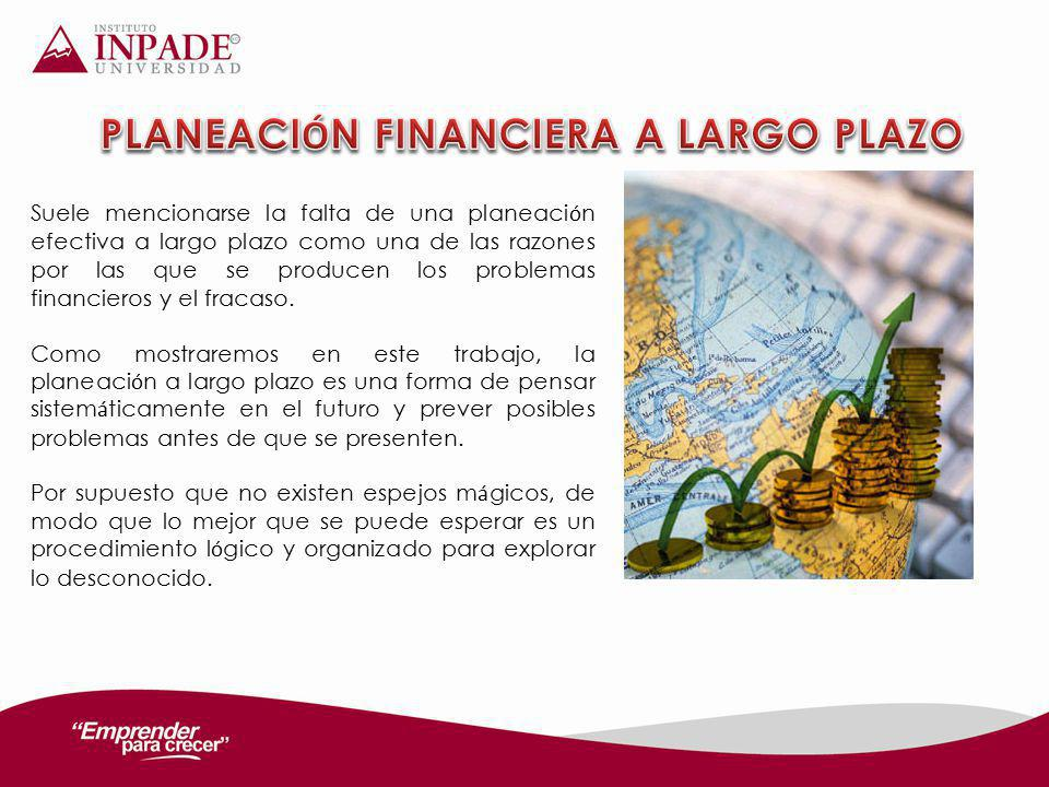 PLANEACIÓN FINANCIERA A LARGO PLAZO