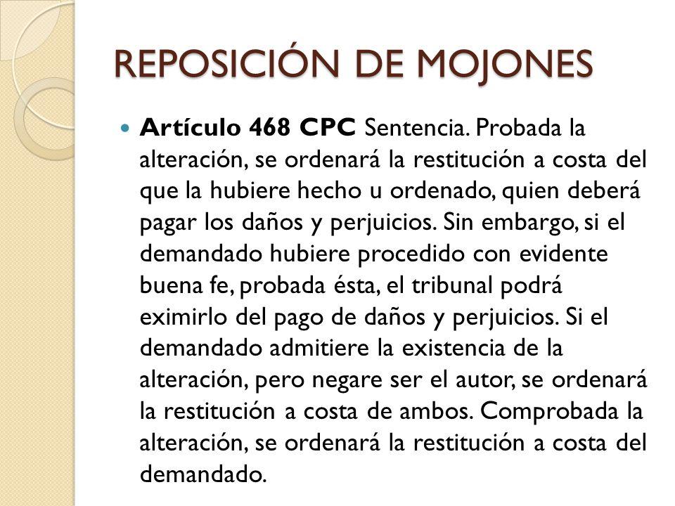 REPOSICIÓN DE MOJONES