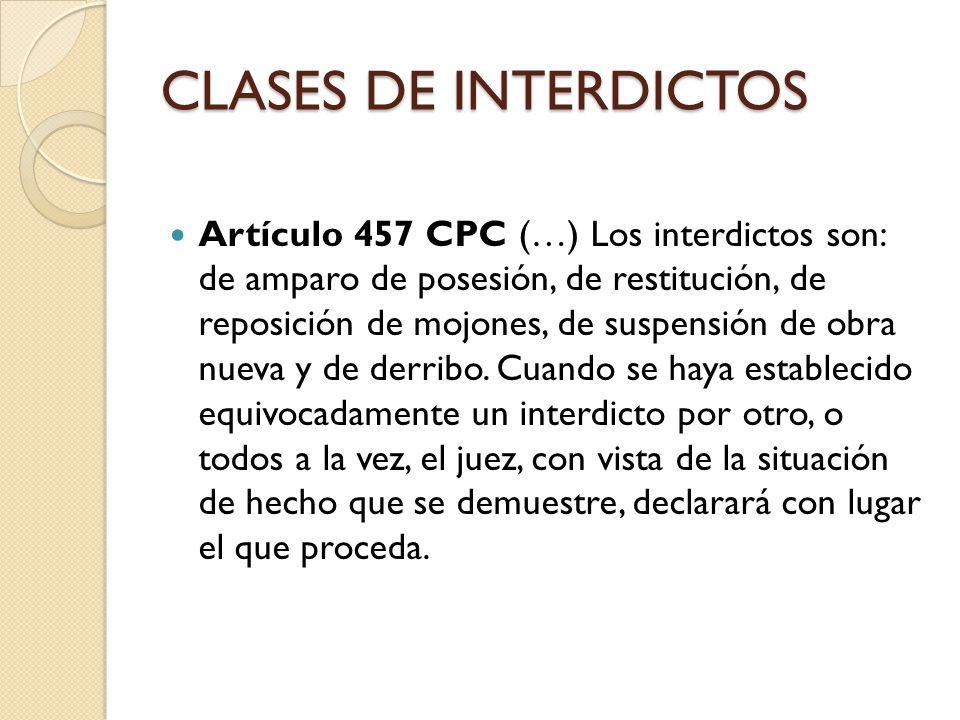 CLASES DE INTERDICTOS