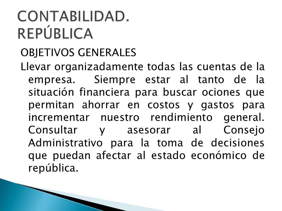 CONTABILIDAD. REPÚBLICA