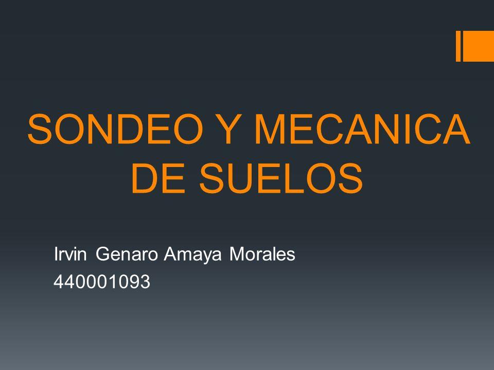 SONDEO Y MECANICA DE SUELOS