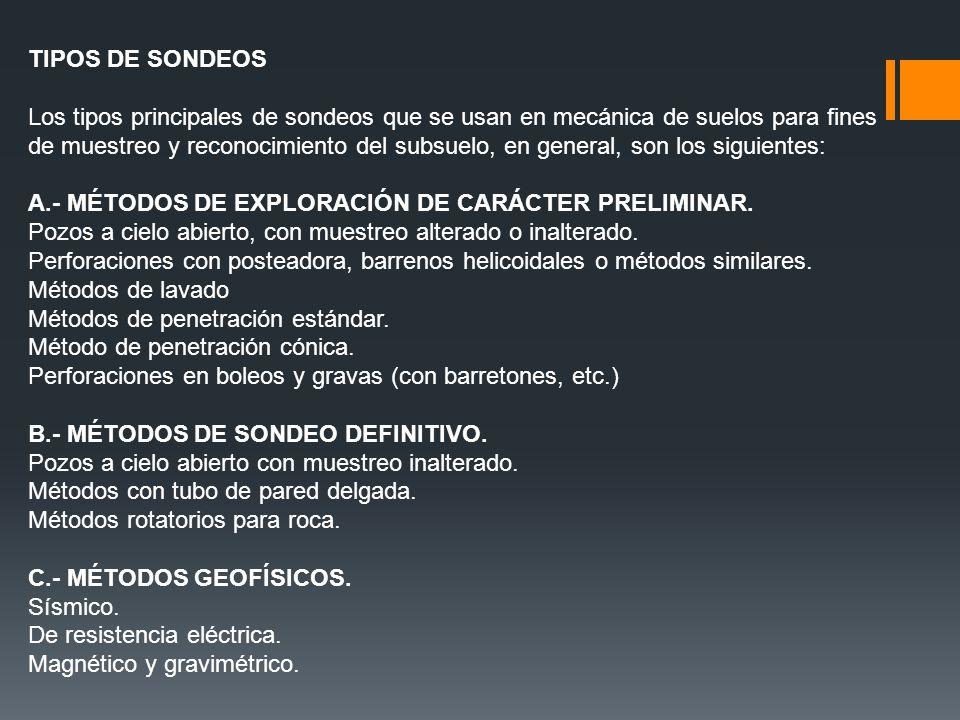 TIPOS DE SONDEOS