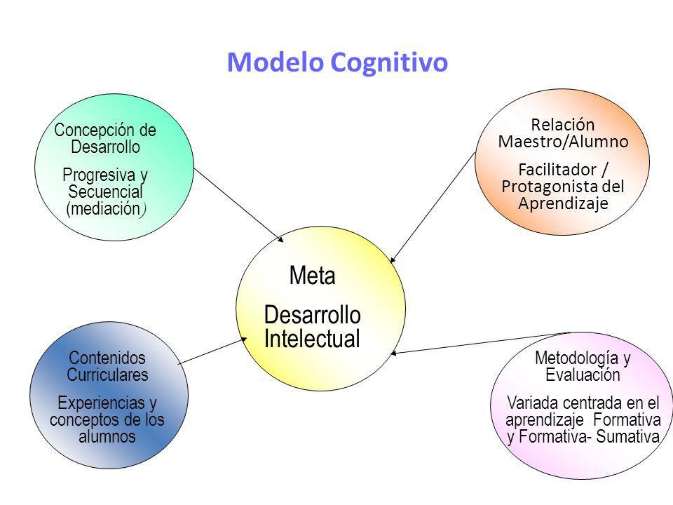 Modelo Cognitivo Meta Desarrollo Intelectual Relación Maestro/Alumno