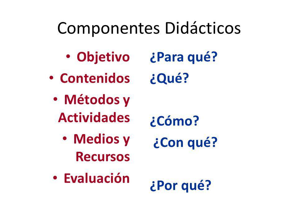 Componentes Didácticos