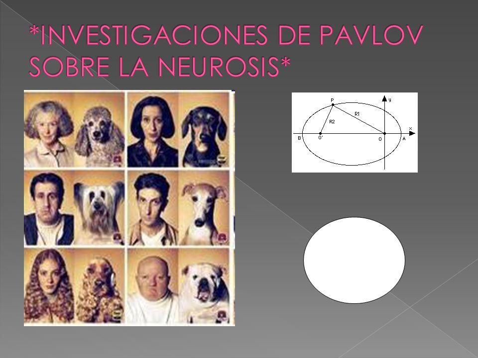 *INVESTIGACIONES DE PAVLOV SOBRE LA NEUROSIS*