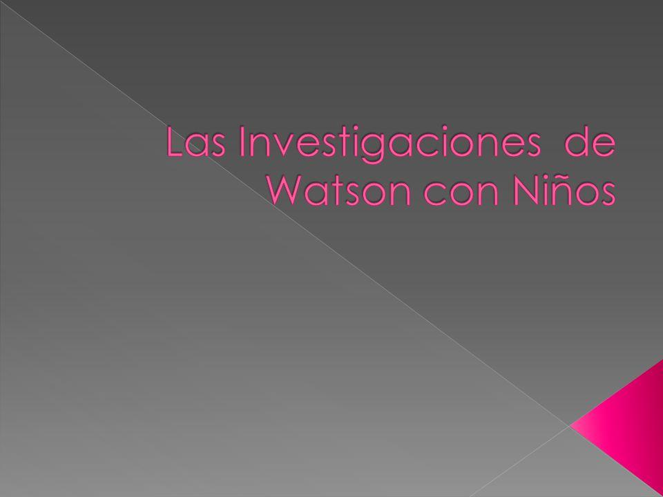 Las Investigaciones de Watson con Niños