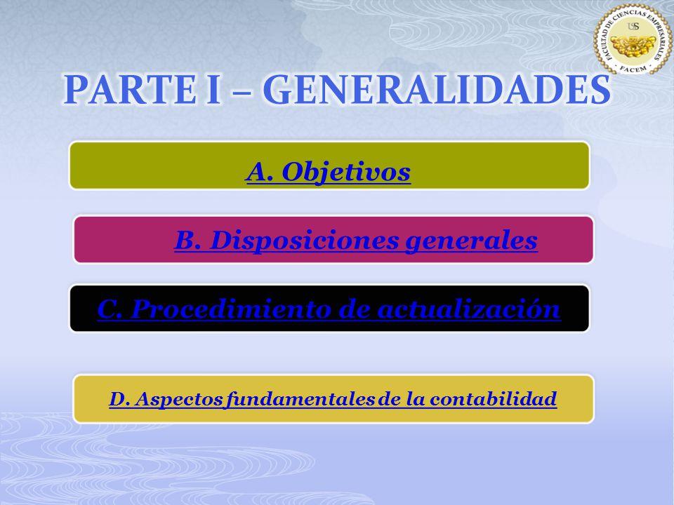 PARTE I – GENERALIDADES