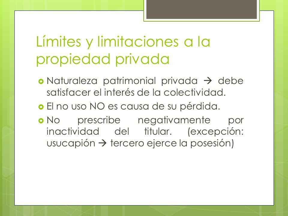 Límites y limitaciones a la propiedad privada