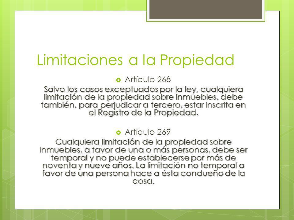 Limitaciones a la Propiedad
