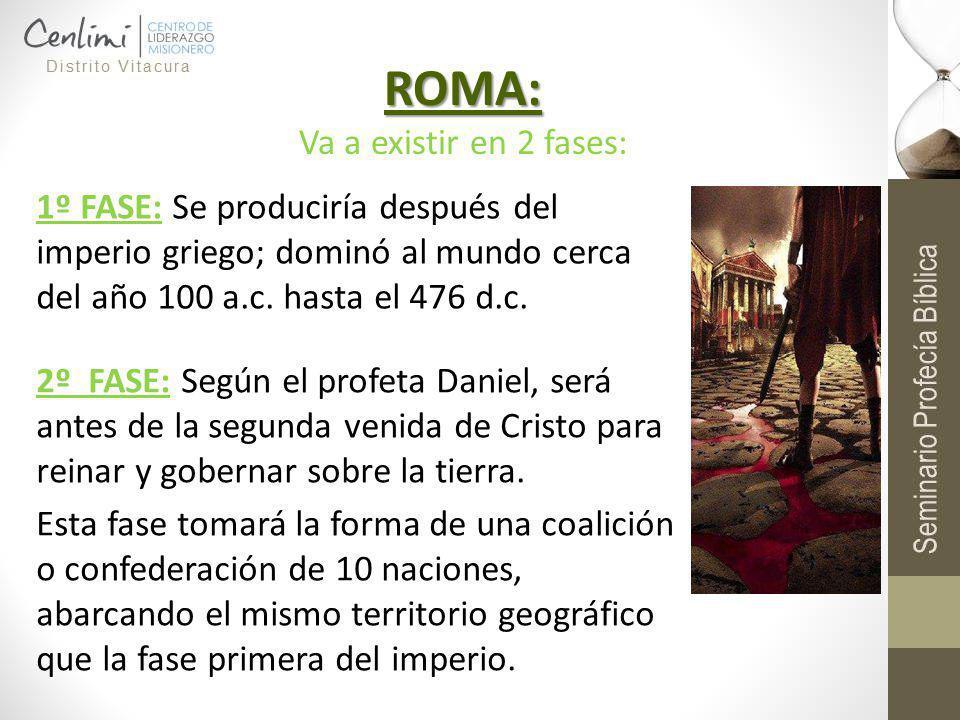 ROMA: Va a existir en 2 fases: