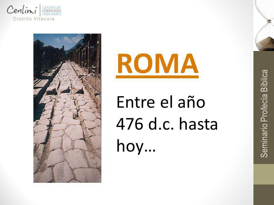 ROMA Entre el año 476 d.c. hasta hoy…