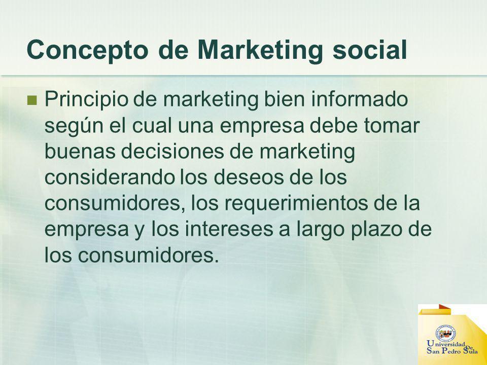 Concepto de Marketing social