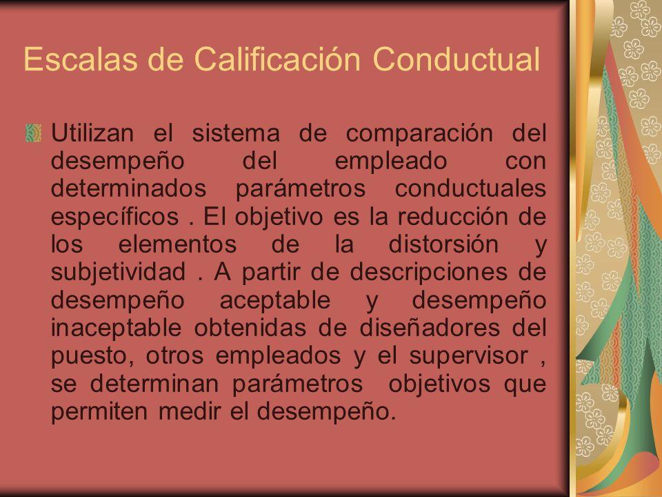 Escalas de Calificación Conductual