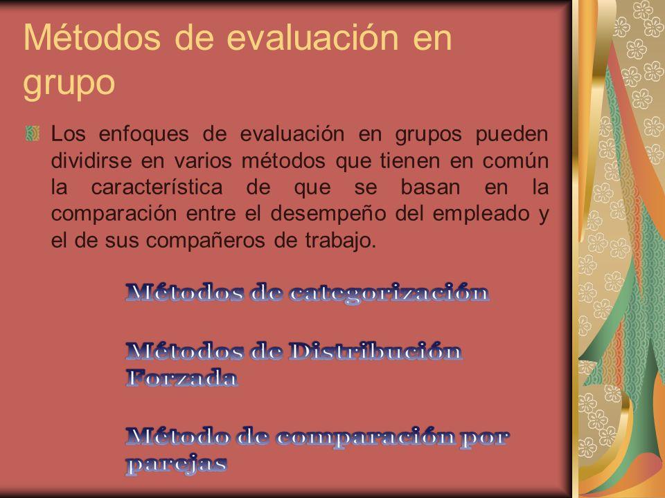Métodos de evaluación en grupo