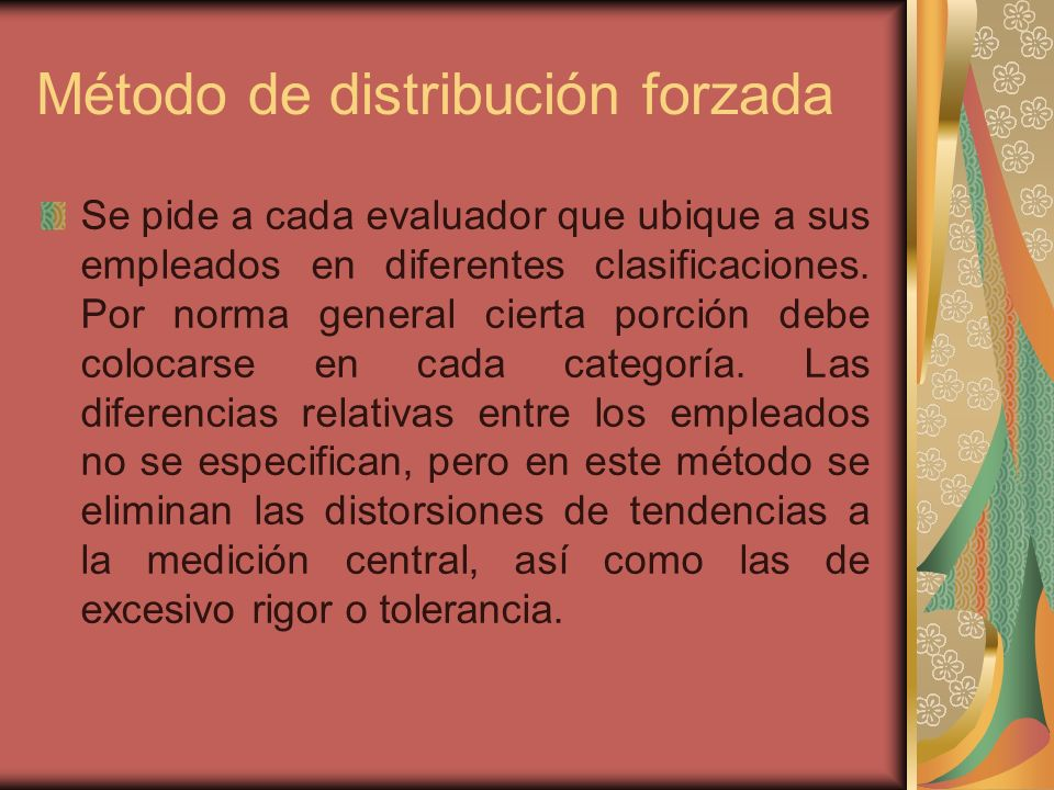 Método de distribución forzada