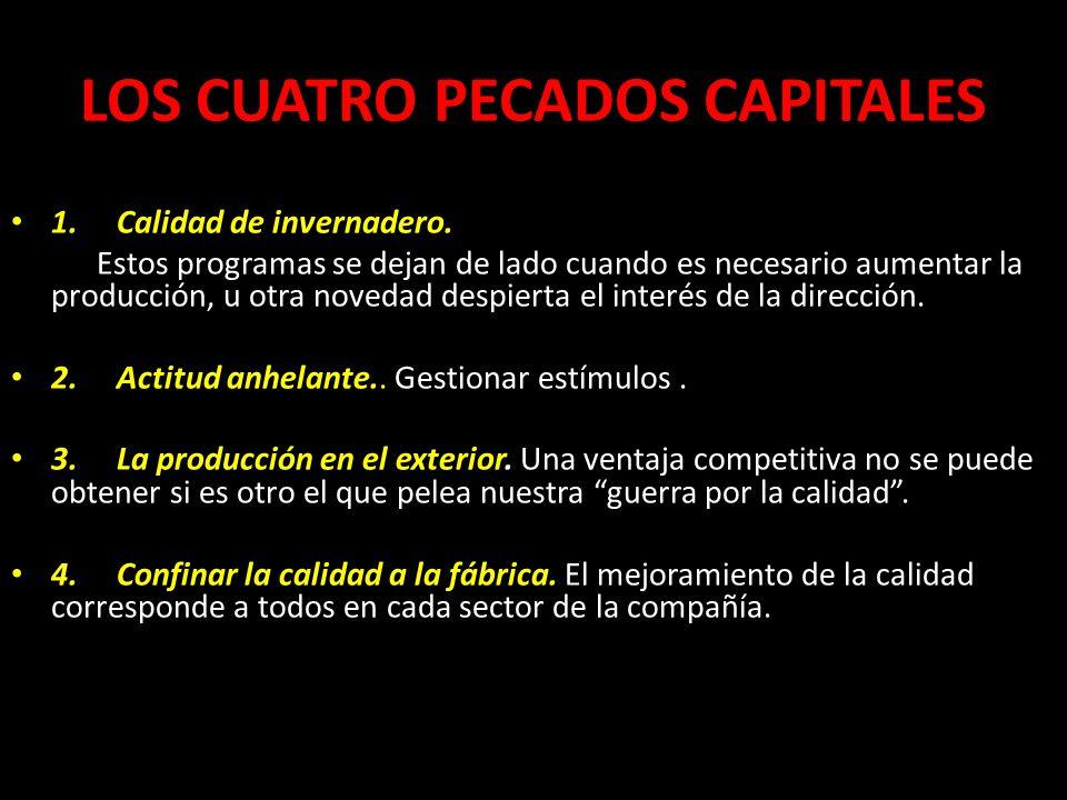 LOS CUATRO PECADOS CAPITALES