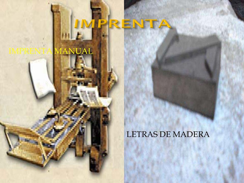 IMPRENTA Imprenta manual Letras de madera