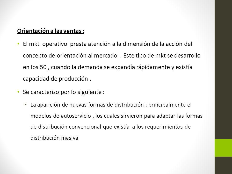 Orientación a las ventas :