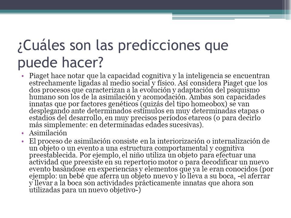 ¿Cuáles son las predicciones que puede hacer