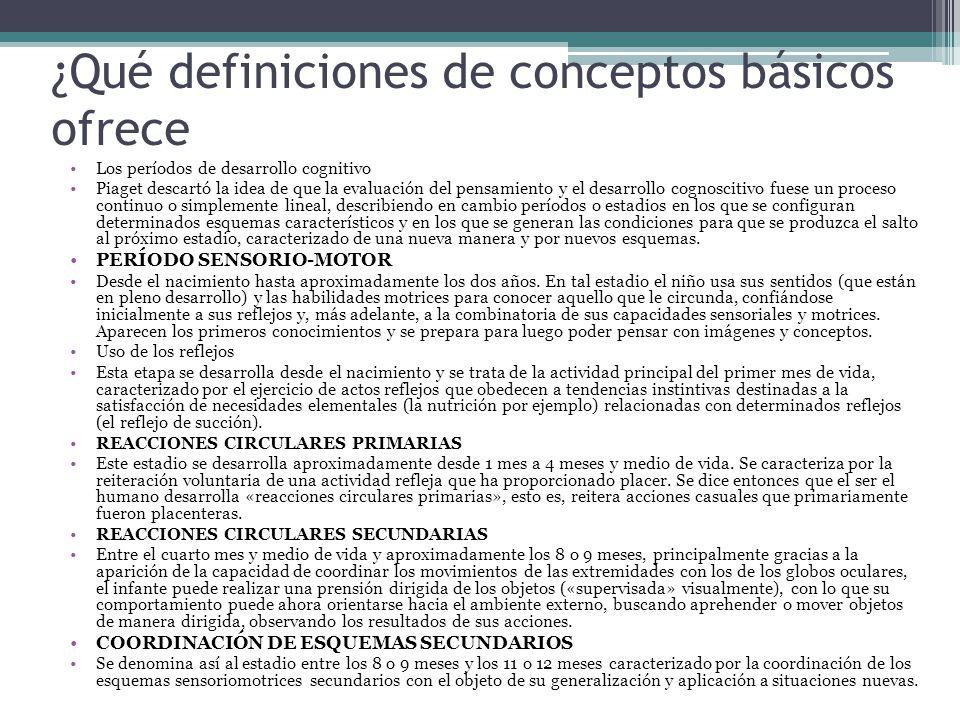 ¿Qué definiciones de conceptos básicos ofrece