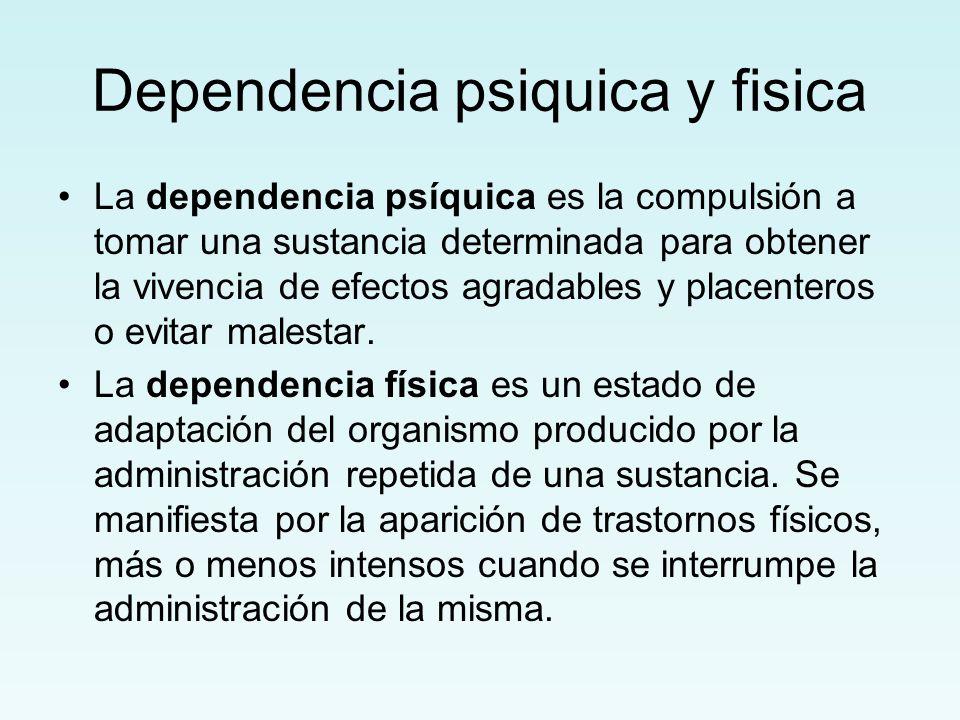 Dependencia psiquica y fisica