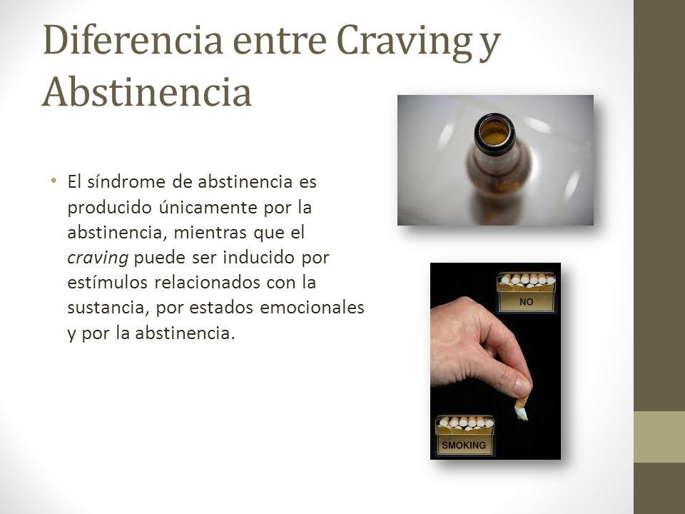 Diferencia entre Craving y Abstinencia